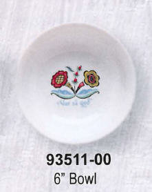 Swedish Flower Dinnerware - Bowl 6 inch Plate