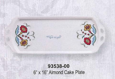 Swedish Flower Dinnerware - Almond Cake Plate