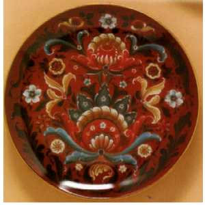 Decorator  Plates - Red Rosemaling