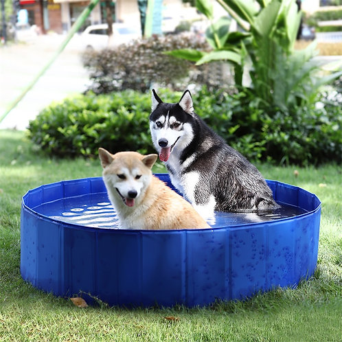 Foldable Pet Swimming Pools PVC Bathing Tub Large Collapsible Outdoor Waterproof