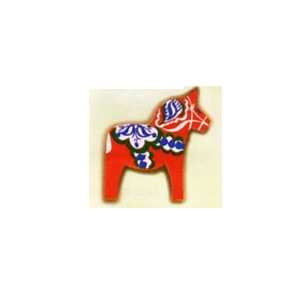 Hand-painted Magnets - Red Dala Horse