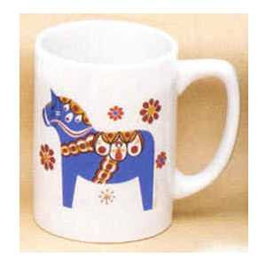 Scandinavian Mug - Blue Dala Horse
