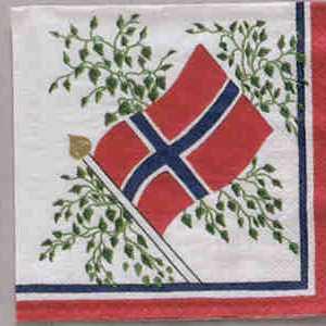 Napkin - Norwegian Flag - Beverage