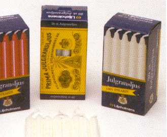 100% Stearin Chime Candles from Lilljeholmens