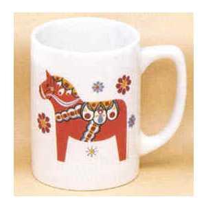 Scandinavian Mug - Red Dala Horse
