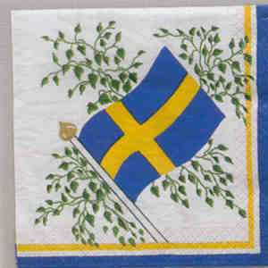 Napkin - Swedish Flag - Lunch