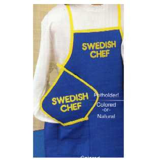 Colored Hot Pad - Swedish Chef