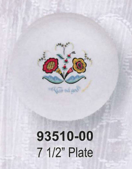 Swedish Flower Dinnerware - 7.5 inch Plate