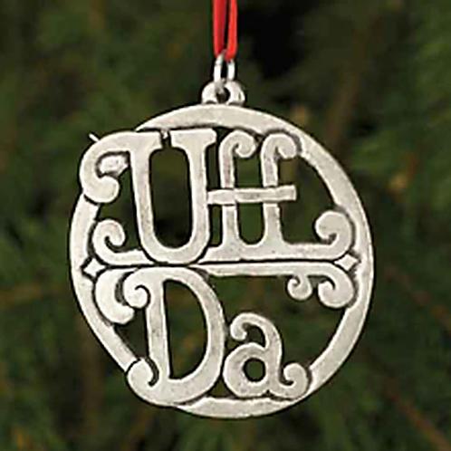 Pewter UFF DA Ornament
