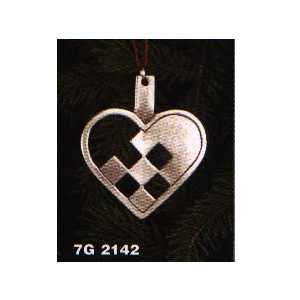 Pewter Woven Heart Ornament