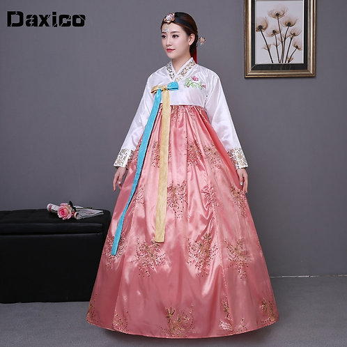 Sequined Korean Traditional Costume Hanbok Female