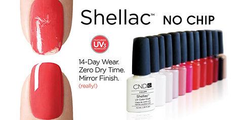 Shellac No Chip 14-day wear zero dry time mirror finish
