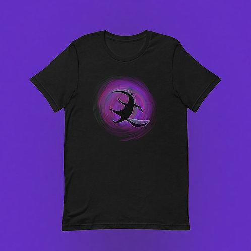Großer Ameisenbär Druck | Unisex, Schwarz, U-Ausschnitt, T-Shirt