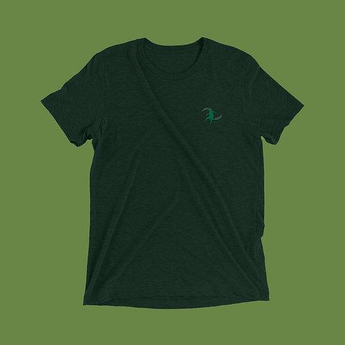 Aufgestickter Ameisenbär | Unisex, Grün, U-Ausschnitt, T-Shirt