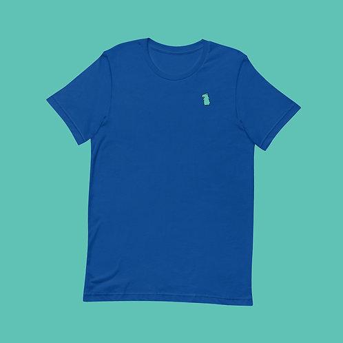 Hippo | Unisex, Blau, U-Ausschnitt, T-Shirt