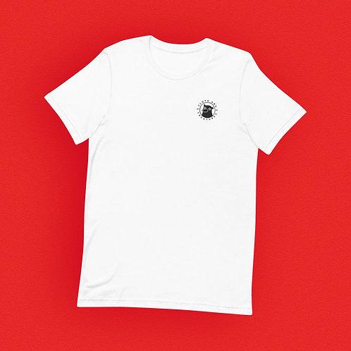 Cloth and Creatures Bär Logo   Unisex, Weiß, U-Ausschnitt, T-Shirt