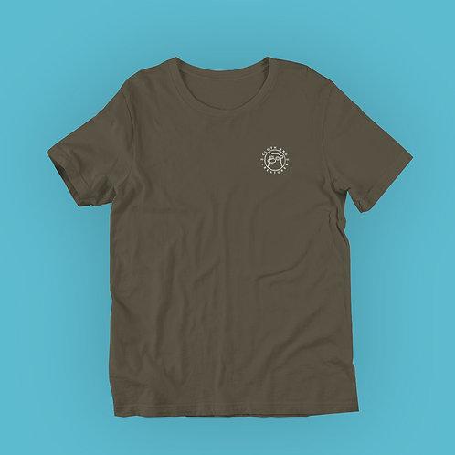 Cloth and Creatures Bär Logo | Unisex, Grün, U-Ausschnitt, T-Shirt