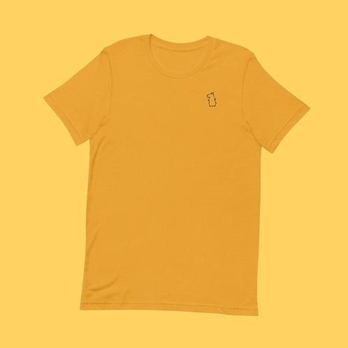 Hippo | Unisex, Gelb, U-Ausschnitt, T-Shirt