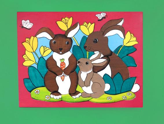 Osterhasen-Familie