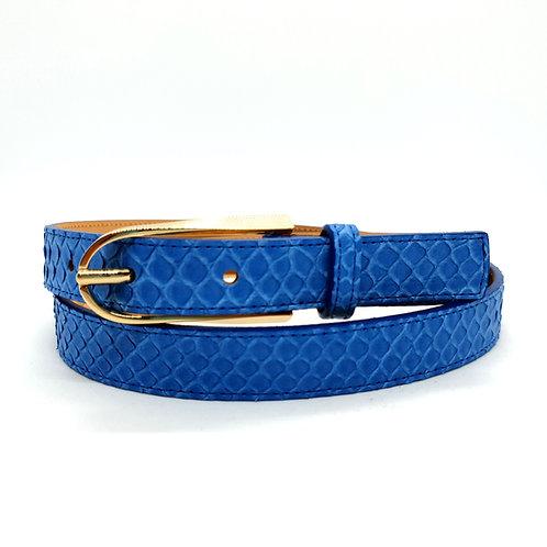 Python véritable - bleu - boucle fine