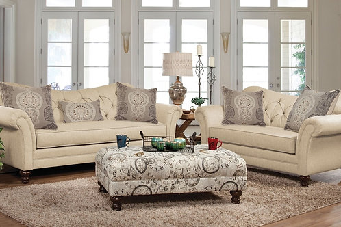 New Siam Parchment Sofa & Loveseat