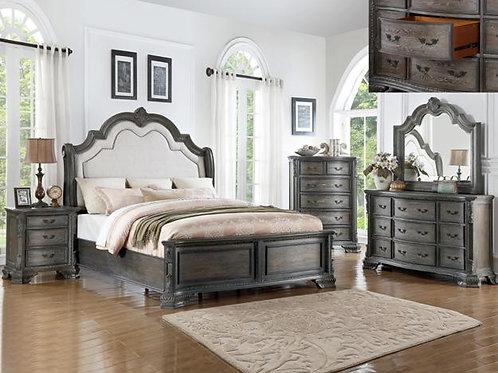Sheffield Bedroom Set King Grey