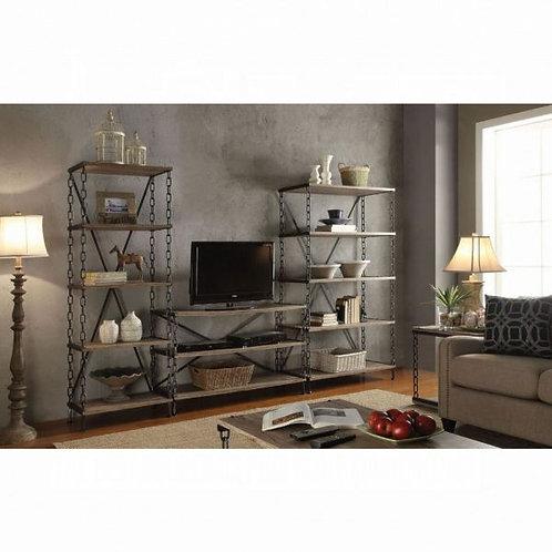 Jodie Rustic Oak & Antique Black TV Stand