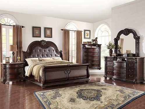 Stanley Sleigh Bedroom Set King