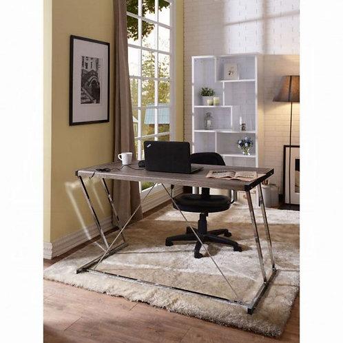 Finis Weathered Oak & Chrome Desk