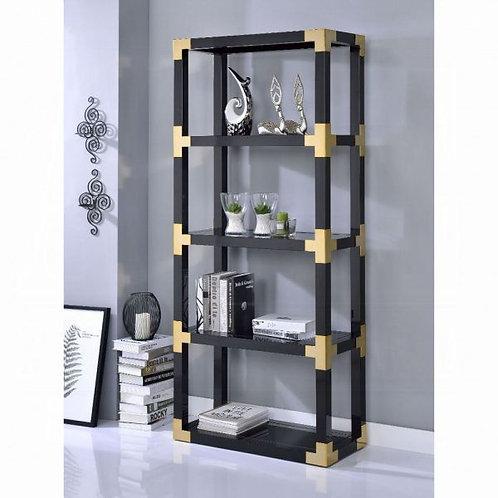 Lafty Gold & Black High Gloss Bookshelf