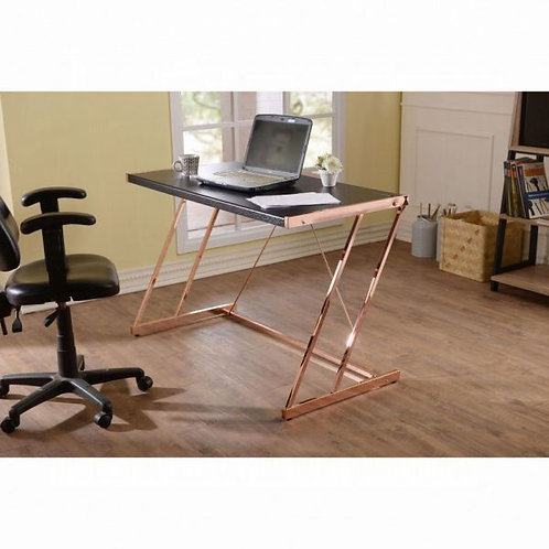 Finis Light Black & Rose Gold Desk