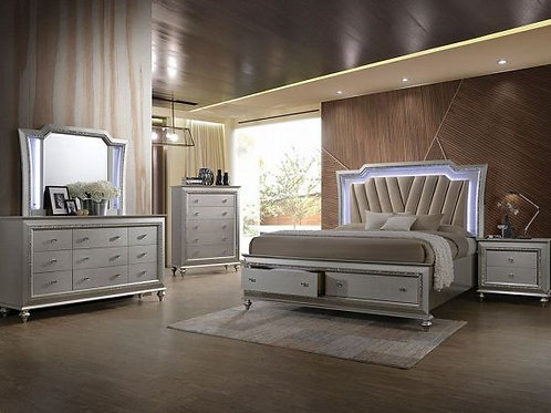 Kaitlyn Champagne 5pc Bedroom Set (Q)