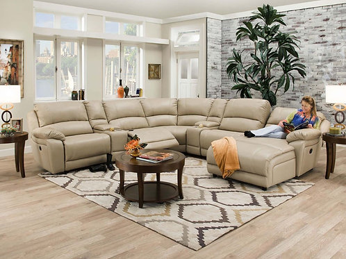 Faulkner Champagne 7-Piece Sectional