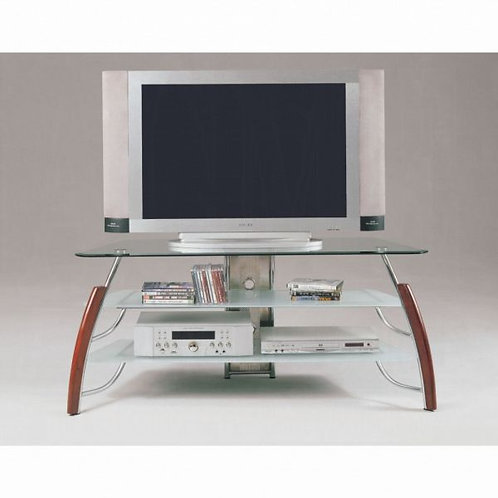 Martini Brown Cherry & Chrome TV Stand