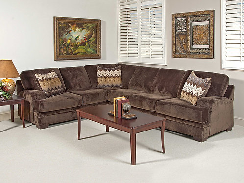 Olympian Chocolate Sectional (2-Piece)