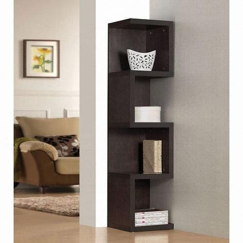 Carmeno Large S Shelf Espresso Bookcase