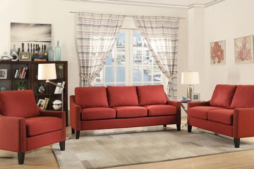 Zapata Red Sofa & Loveseat