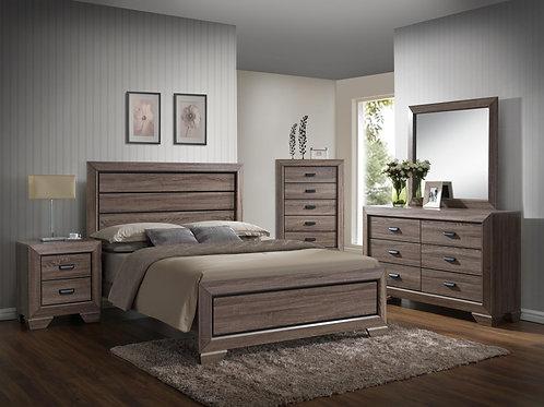 Grey Wooden Bedroom Set