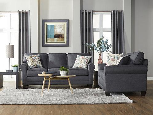 Jitterbug Gray Sofa & Loveseat