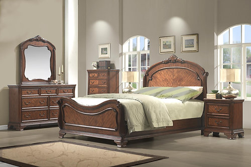 Dark Cherry Bedroom Set King