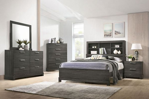 Lantha Gray Oak 5pc Bedroom Set (Q)