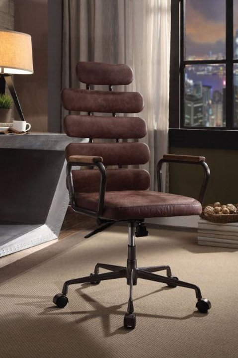 Calan Executive Vintage Whiskey Top Grain Leather Office Chair