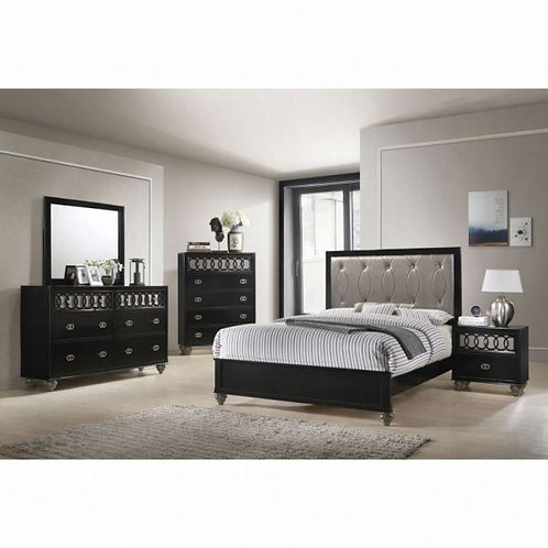 Ulrik Copper & Black 5pc Bedroom Set (Q)
