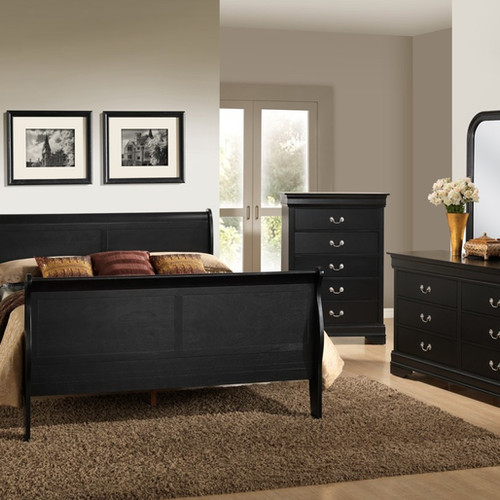 Black Finish Bedroom Set King