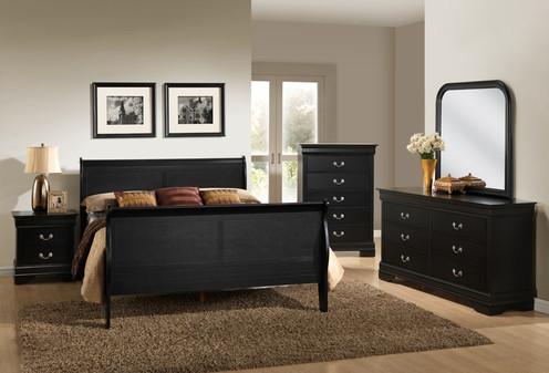 Black Finish Bedroom Set Queen
