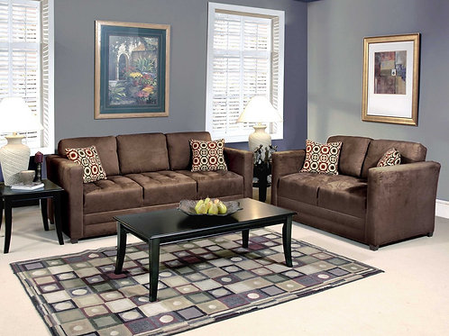 Sienna Chocolate Sofa & Love Seat