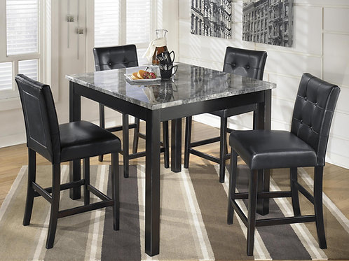 Faux Marble Dining Room Table Set