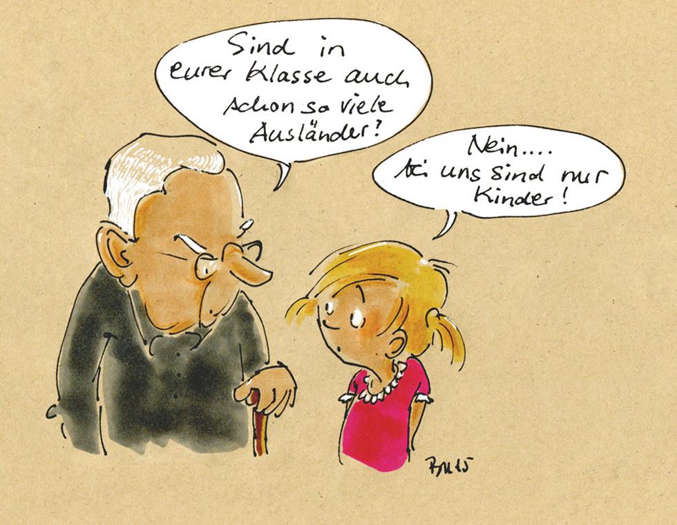 Cartoon Kindermund