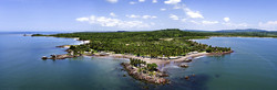 Aerial drone view N at island coves