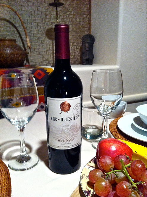 ŒLIXIR (12 bottle case); Red Mélange (Merlot 73%; Mourvedre 12%; Petit Verdot 9%